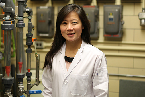 Ariel Chan in her lab