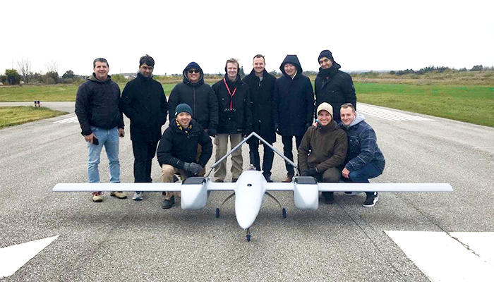 The Sky Guys put the DX-3 Vanguard to the test at Markham Airport. The hybrid drone features vertical take-off and landing, long-range communications and cloud-based analytics. (Credit: The Sky Guys)