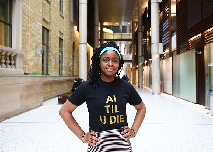 A recent study by Deb Raji (Year 4 EngSci + PEY) and researchers at the MIT Media Lab shows a need for stronger evaluation practices of AI products to mitigate gender and racial biases. (Credit: Liz Do)